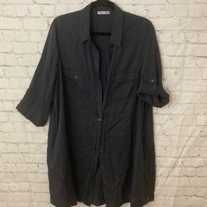 Dex grey shirt dress